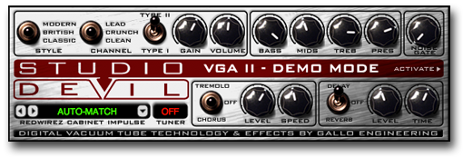 Studio Devil Virtual Guitar Amp